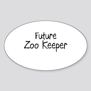Future Zoo Keeper Oval Sticker