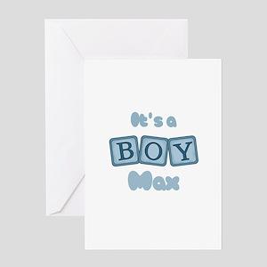 It's A Boy - Max Greeting Card
