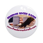 Freedom Rocks Radio Ceramic Round Ornament