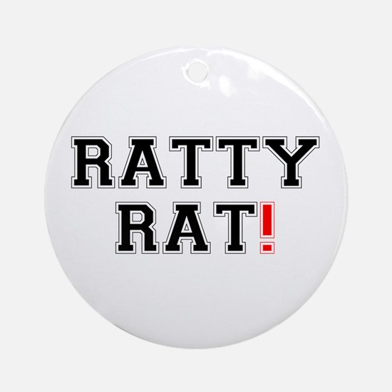 RATTY RAT! Z Round Ornament