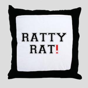 RATTY RAT! Z Throw Pillow