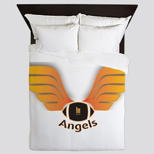 Wallace Angels Football 2049 Logo Queen Duvet