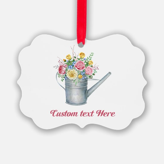 Floral Bouquet Watering Can Ornament