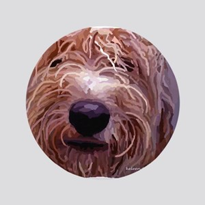 """WET DOG 3.5"""" Button"""