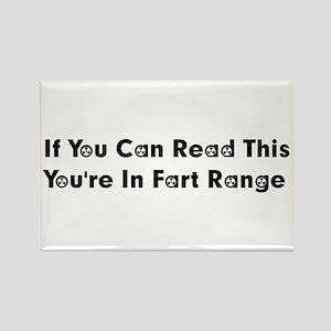 Fart Range Rectangle Magnet