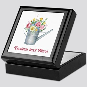 Floral Bouquet Watering Can Keepsake Box