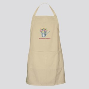 Floral Bouquet Watering Can Light Apron
