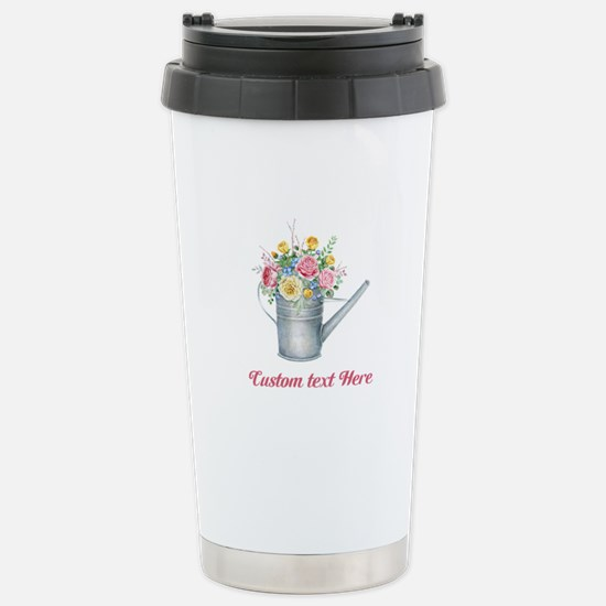 Floral Bouquet Watering Can Travel Mug