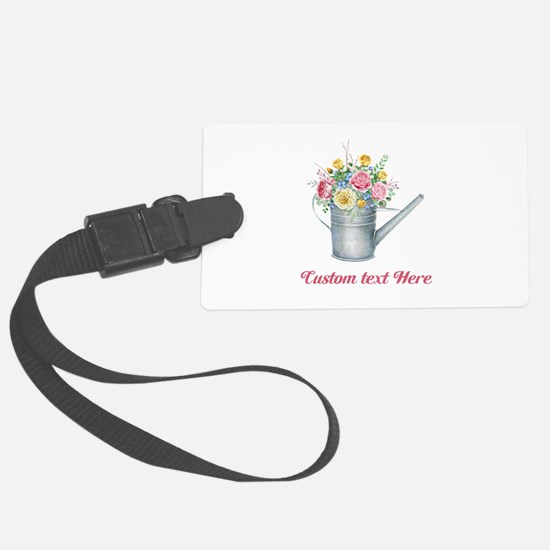 Floral Bouquet Watering Can Luggage Tag