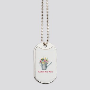 Floral Bouquet Watering Can Dog Tags