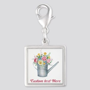 Floral Bouquet Watering Can Charms