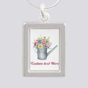 Floral Bouquet Watering Can Necklaces
