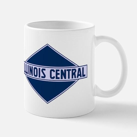 Historic diamond logo illinois central train Mugs
