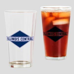 Historic diamond logo illinois cent Drinking Glass
