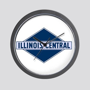 Historic diamond logo illinois central Wall Clock
