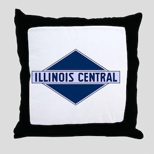 Historic diamond logo illinois centra Throw Pillow