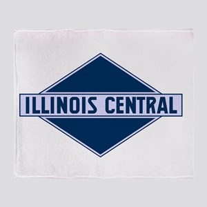 Historic diamond logo illinois centr Throw Blanket