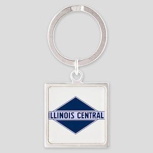 Historic diamond logo illinois central t Keychains