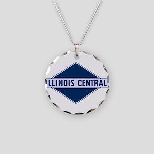 Historic diamond logo illino Necklace Circle Charm