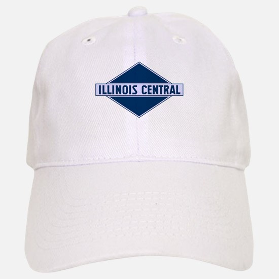 Historic diamond logo illinois central train Baseball Baseball Cap