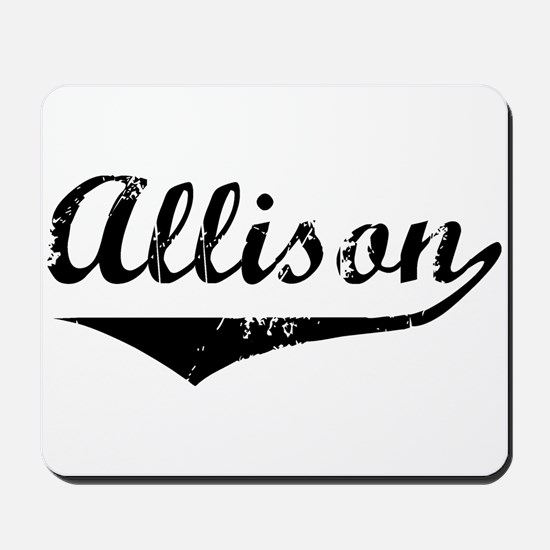 Allison Vintage (Black) Mousepad