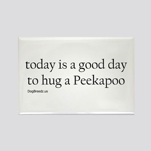 Hug a Peekapoo Rectangle Magnet