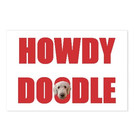 Howdy Doodle Labradoodle Postcards (Package of 8)