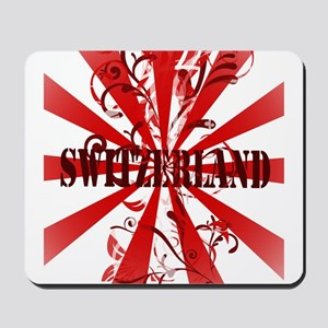 Switzerland vintage red Mousepad