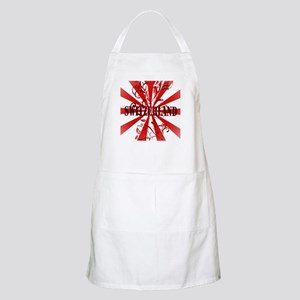 Switzerland vintage red BBQ Apron