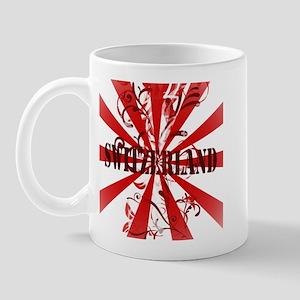 Switzerland vintage red Mug