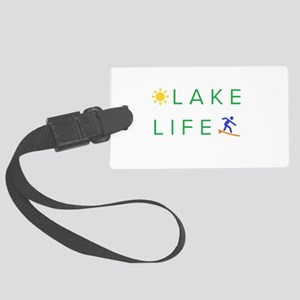 Inspiration quote - lake life Large Luggage Tag