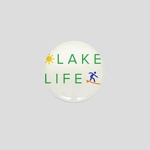 Inspiration quote - lake life Mini Button