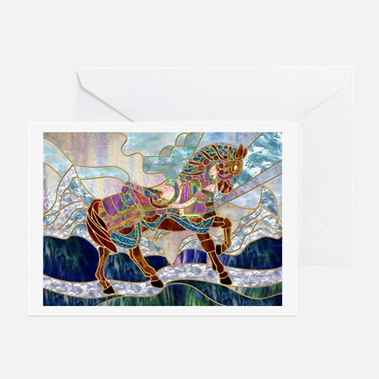 Armoured Carousel Horse Greeting Cards (Package of
