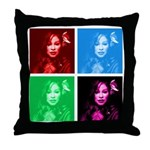 Chaka Khan in Color Throw Pillow