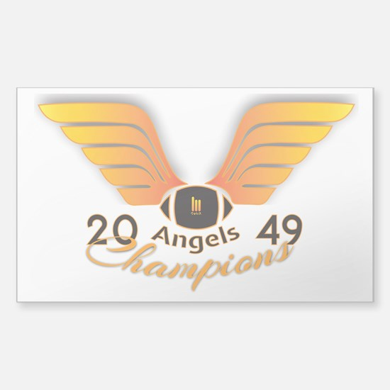 Wallace Angels Football 2049 Champions Decal