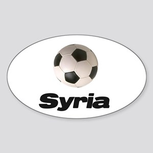 Syria soccer Oval Sticker