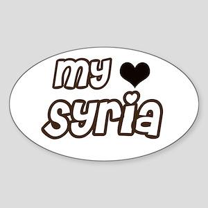my heart Syria Oval Sticker