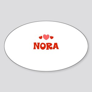 Nora Oval Sticker