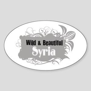 Wild Syria Oval Sticker