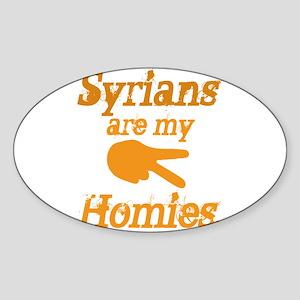 Syrians homies Oval Sticker