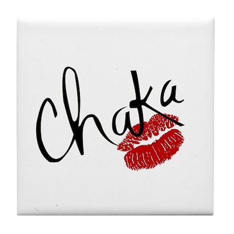 Chaka Kiss Tile Coaster