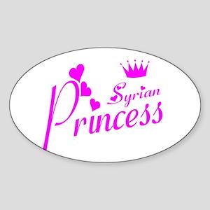 Syrian pricness Oval Sticker