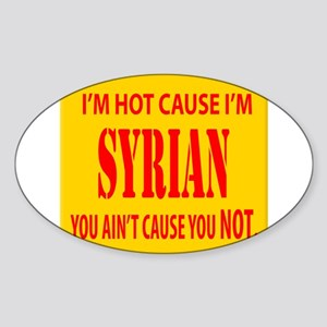 hot Syrian Oval Sticker