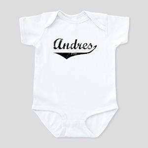 Andres Vintage (Black) Infant Bodysuit