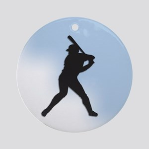 Batter Up Round Ornament