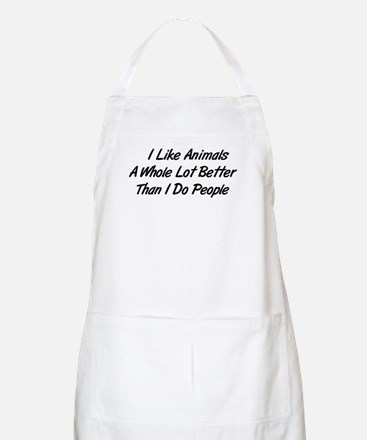 Animals Better Than People BBQ Apron