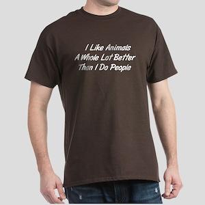 Animals Better Than People Dark T-Shirt