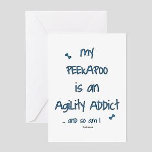 Peekapoo Agility Addict Greeting Card