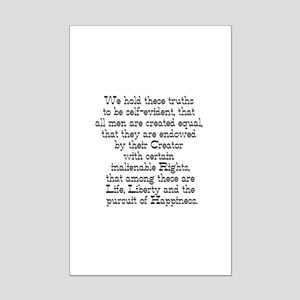 Declaration of Independence Mini Poster Print