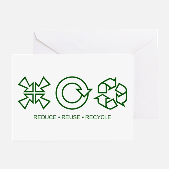 Reduce Reuse Recycle Greeting Cards (Pk of 10)